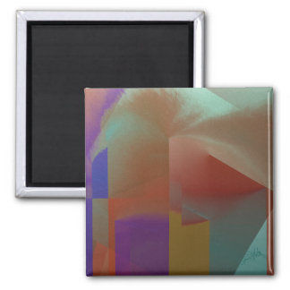 Patchwork Abstract Square Magnet
