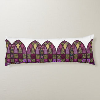 Patchwork Arch in Raspberry and Purple Body Cushion