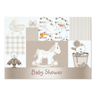 PATCHWORK BABY SHOWER INVITATION
