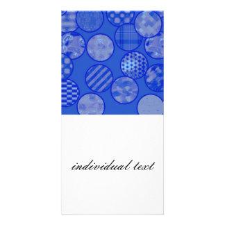 patchwork balls,blue photo card template