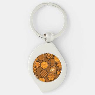 patchwork balls,orange keychain
