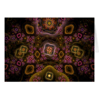Patchwork Boho Chic Abstract Geometric Art Card