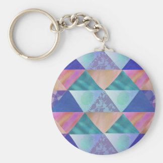 Patchwork Colors Keychain