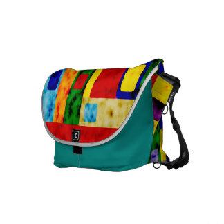Patchwork colourful  messenger  bag commuter bags