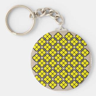 Patchwork Design 7 Key Chain