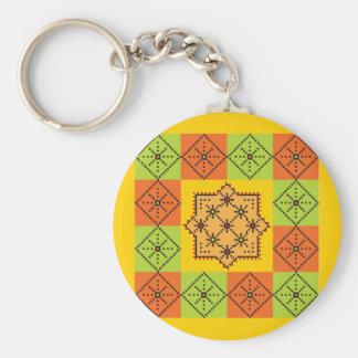 Patchwork Design 8 Key Chains