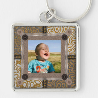 Patchwork Enthusiast Photo Frame Key Ring