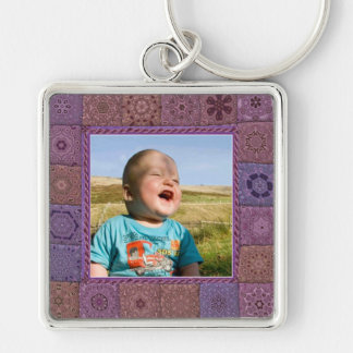Patchwork Enthusiast Photo Frame Keychains