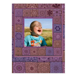 Patchwork Enthusiast Photo Frame Postcard