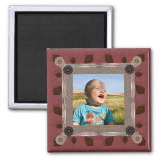 Patchwork Enthusiast Photo Frame Square Magnet