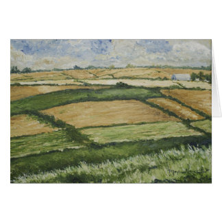 Patchwork Fields Greeting Card