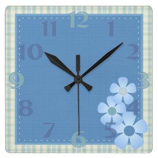 Patchwork Flower Wall Clock