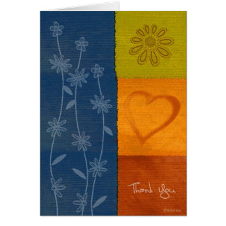 Patchwork Flowers2-Thank You Card