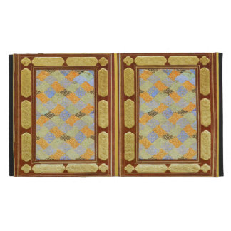 Patchwork Gold Embossed Art iPad Case
