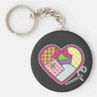 Patchwork Heart Key Chains