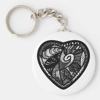 Patchwork Heart Keychain
