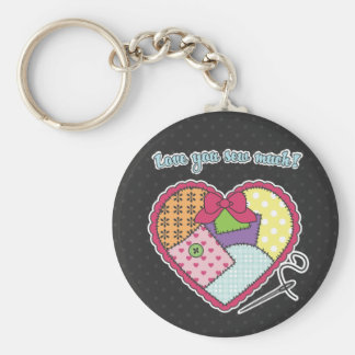 Patchwork Heart - Love you sew much Key Chains