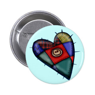 Patchwork Heart T-shirts and Gifts Pins