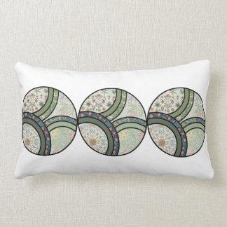 Patchwork in Green Lumbar Pillow