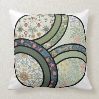 Patchwork in Green Throw Pillow