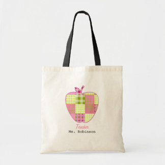 Patchwork Inspired Plaid Apple Teacher