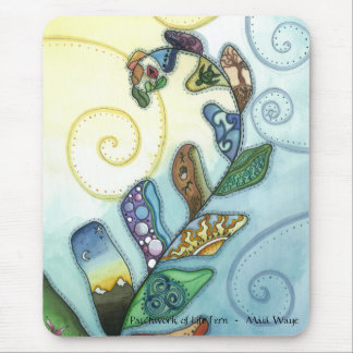 Patchwork of Life Fern Mouse Pad