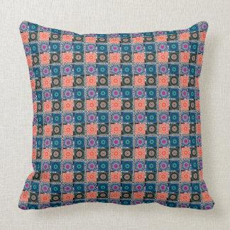 "Patchwork Pattern Cotton Throw Pillow 20"" x 20"""