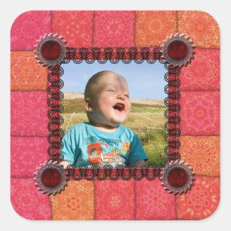 Patchwork Photo Template Sticker