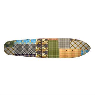 Patchwork & Plaid Skate Board Decks