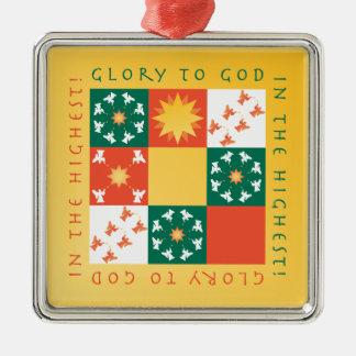Patchwork Praise Christmas Ornament rv