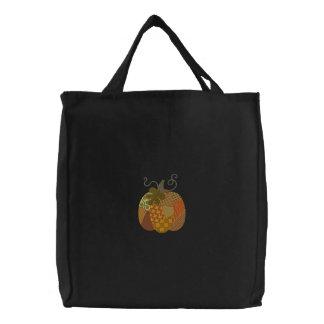 Patchwork Pumpkin Canvas Bags