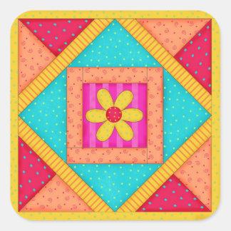 Patchwork Quilt Block Sticker