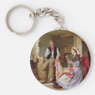Patchwork Quilt by William Henry Midwood Keychains
