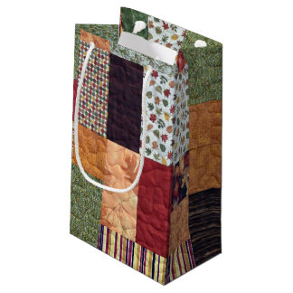 Patchwork Quilt Small Gift Bag