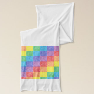 Patchwork Rainbow Scarf