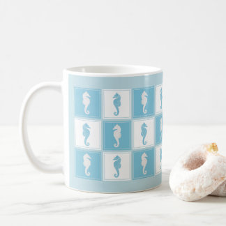 Patchwork Sea Horses Your Background Color Coffee Mug