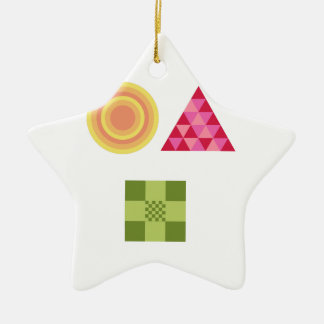 Patchwork Shapes Christmas Ornaments
