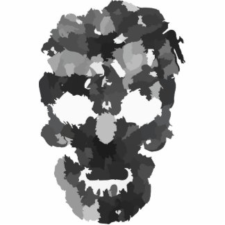 Patchwork Skull Photo Sculptures