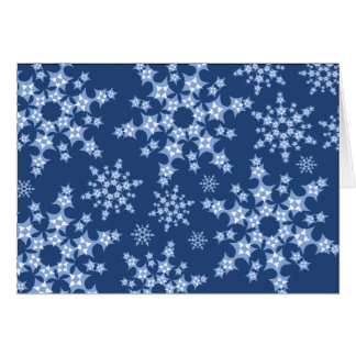 Patchwork Snowflake Blizzard Card