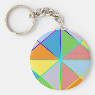 Patchwork Sprinkles Basic Round Button Key Ring