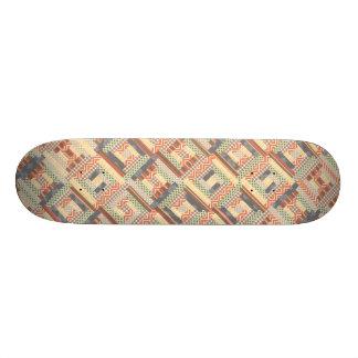 Patchwork Squares Skateboard Decks
