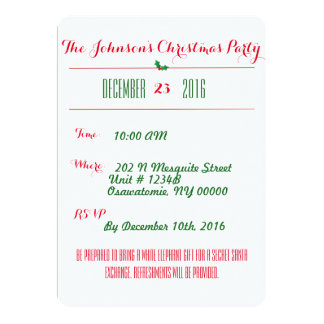 Patchwork Style Holiday Party Invitation