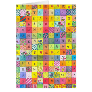 """Patchwork"" Thank You Card"