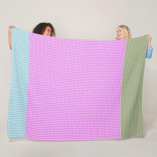 Patchwork-Three-Colour-Fun-Surfer-Fleece-Lg Fleece Blanket