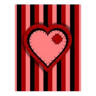 Patchwork Valentine Postcard