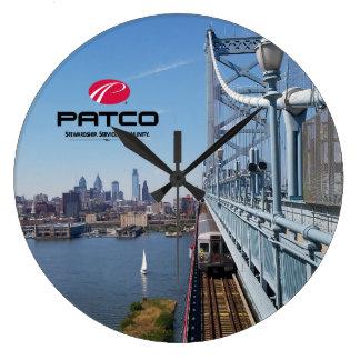 PATCO Philadelphia Skyline Wall Clock - Circle