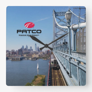 PATCO Philadelphia Skyline Wall Clock - Square