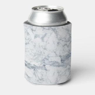 Patels elegant blue white modern marble pattern can cooler