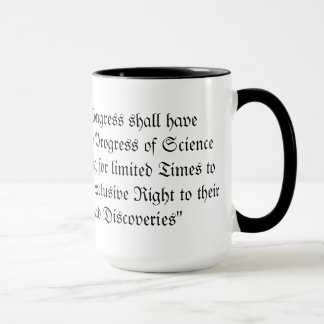 Patent and Copyright Clause (US Constitution) Mug