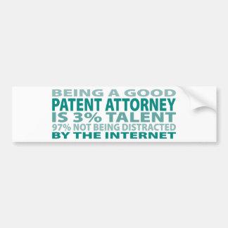 Patent Attorney 3% Talent Bumper Sticker